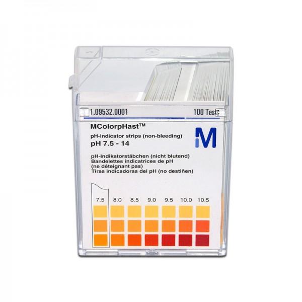 MColorpHast pH-Indikatorstäbchen pH 7,5-14,0 100 Stück