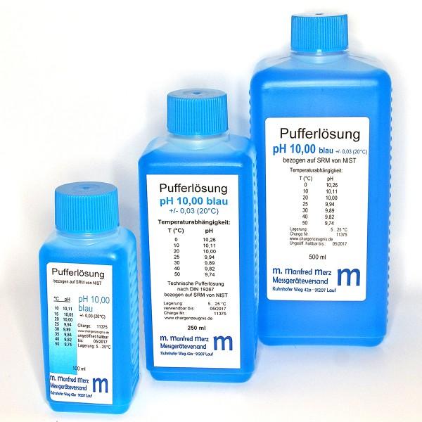 Pufferlösung pH 10,0 mit Analysezertifikat