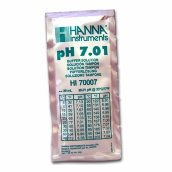 Hanna Pufferlösung HI70007 pH 7,01 20ml Prtionsbeutel
