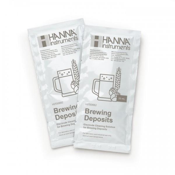 Hanna Elektrodenreinigungslösung HI700682P - Anwendung Bier & Würze - 25x Portionsbeutel