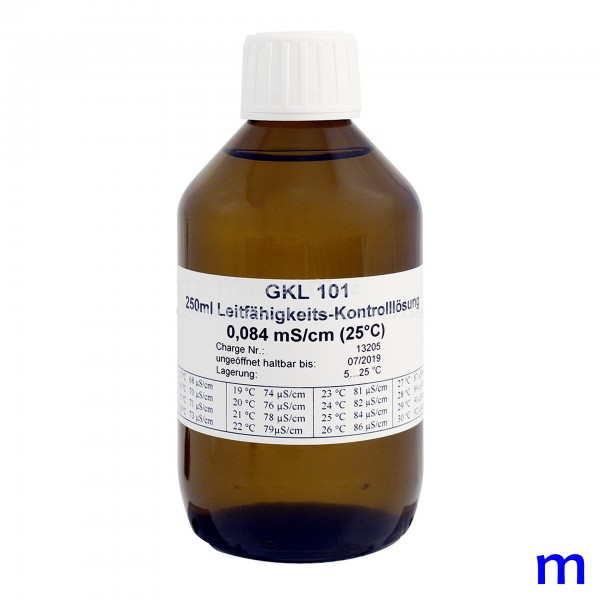 GREISINGER Leitfähigkeits-Kontrolllösung GKL 101, 84 µS/cm