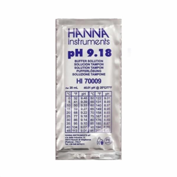 Hanna Pufferlösung HI70009 pH 9,18 Portionsbeutel