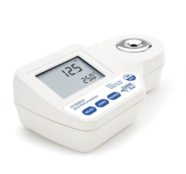 Hanna Digital-Refraktometer HI96814 0 bis 230º Oechsel und 0 bis 50% Brix bei Wein, Most oder Saft