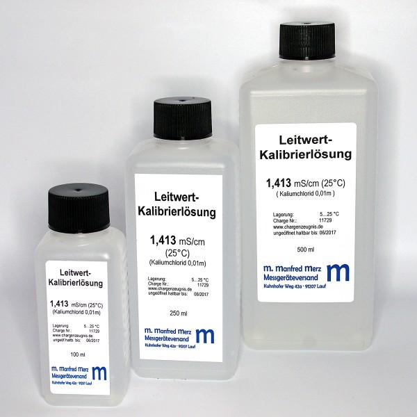 Leitwert-Kalibrierlösung, 1413 µS/cm mit Analysezertifikat