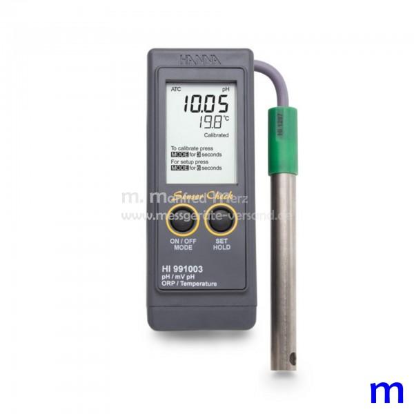 Wasserdichtes pH-/mV-/°C-Messgerät Hanna HI991003